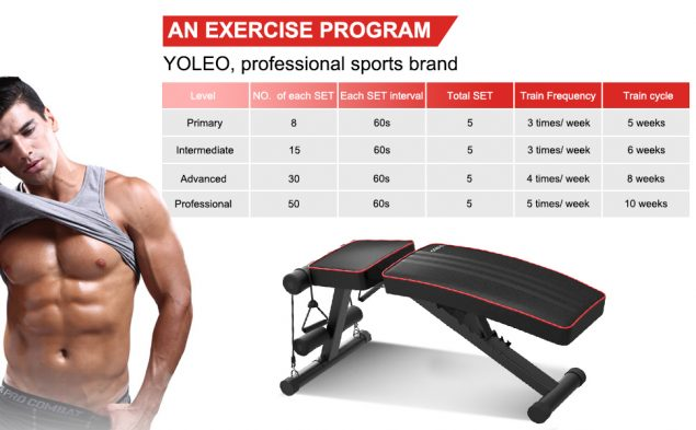 Banc de Musculation YOLEO Pliable